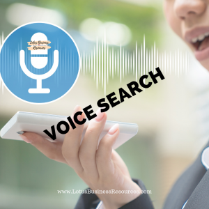 a hand holding a cell phone and a woman's mouth speaking into the cell phone simulating a voice search