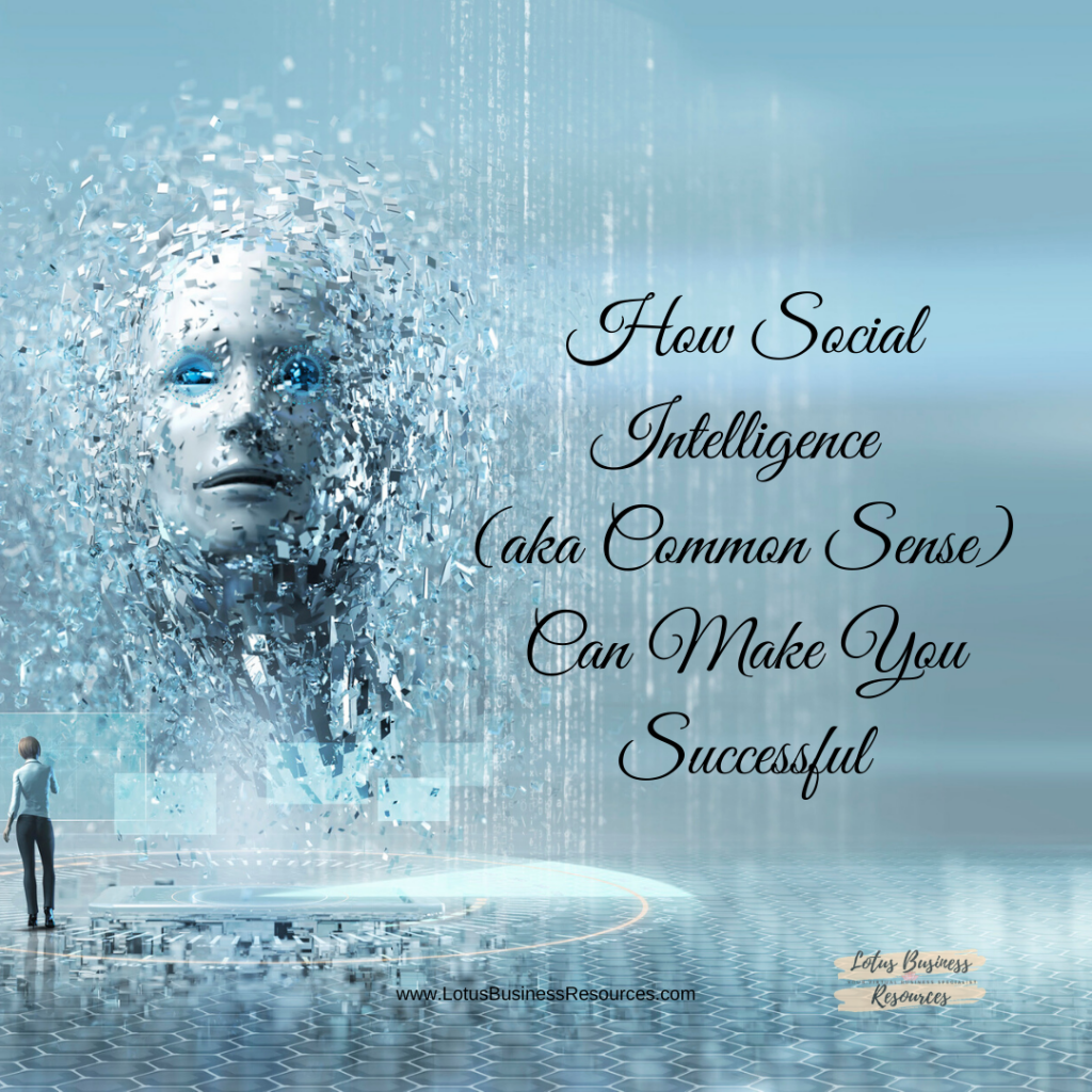 HOW SOCIAL INTELLIGENCE - COMMON SENSE - CAN MAKE YOU SUCCESSFUL - LOTUS BUSINESS RESOURCES
