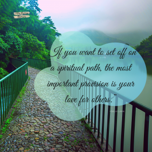 if you want to set off on a spiritual path dalai lama quote graphic for 5 ways to find spiritual path article