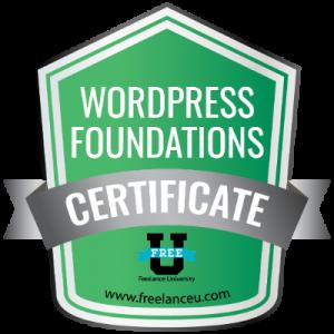 Wordpress Foundations Certification - Freelance University