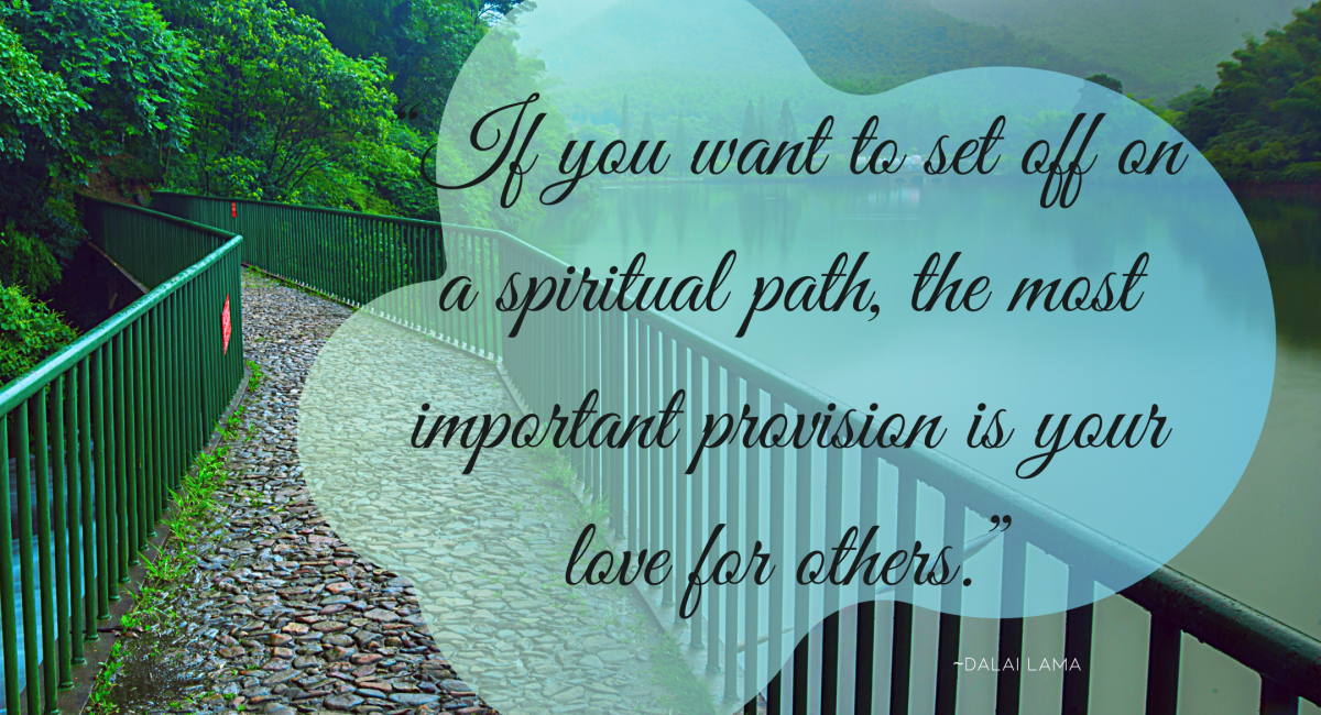 dalai lama quote graphic for 5 ways to find spiritual path article